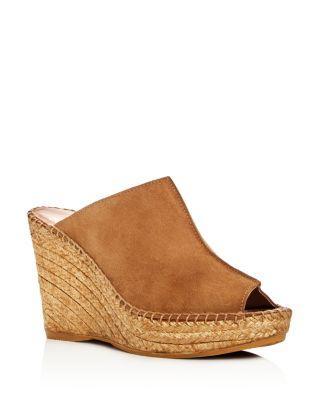 9d6a0fe7014 Andre Assous Women s Cici Platform Wedge Espadrille Slide Sandals In Camel  Suede