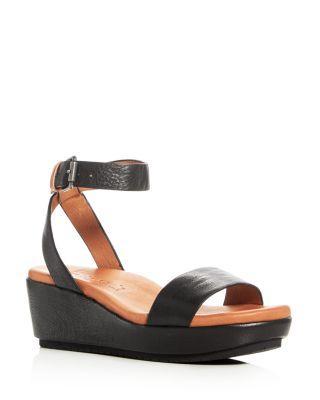 420345bb9327 Gentle Souls Morrie Ankle Strap Platform Wedge Sandals In Black.  Bloomingdale s