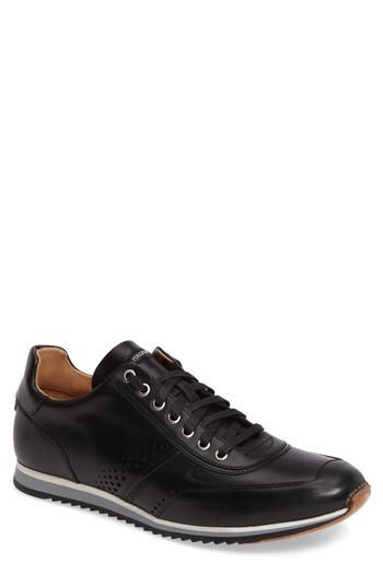 Magnanni 'cristian' Sneaker In Black Leather