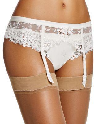5d1f168d304 Simone Perele Wish Lace Suspenders Garter Belt In Ivory
