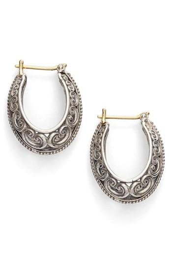 Konstantino 'Penelope' Filigree Hoop Earrings In Silver