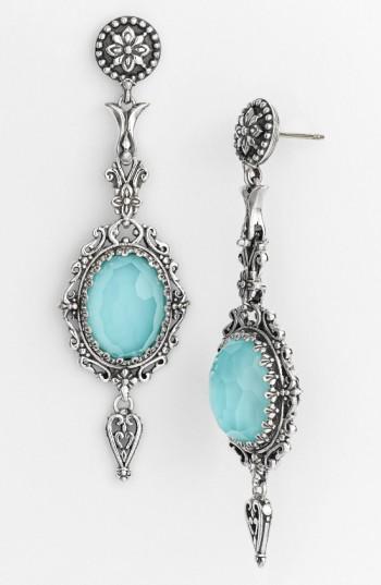 Konstantino 'aegean' Drop Earrings In Silver/ Turquoise