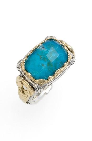 Konstantino 'Iliada' Doublet Ring In Blue/ Green