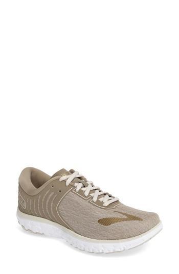 f77cab1f052 Brooks Pureflow 6 Running Shoe In Heather  Cashew  Gold