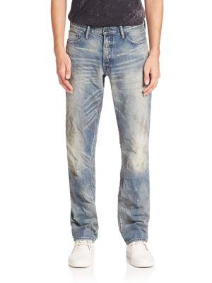 Prps Barracuda Straight Leg Jeans In Blue