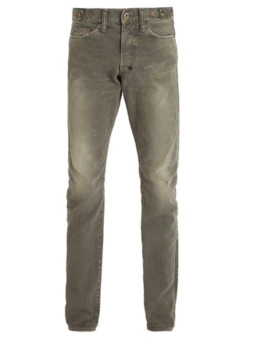 Prps Demon Slim Straight Jeans In Light-Grey