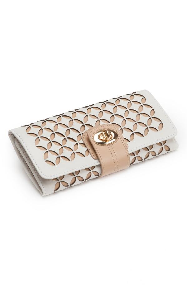 Wolf 'Chloe' Jewelry Roll - Ivory In Cream