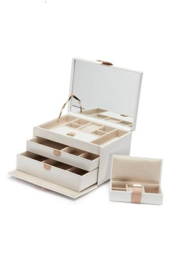 Wolf 'Chloe' Jewelry Box - Ivory In Cream