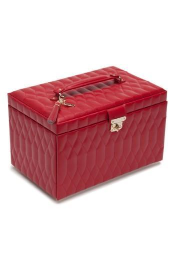 Wolf 'Caroline' Jewelry Case - Red