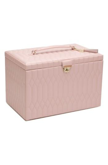 Wolf 'Caroline' Jewelry Case - Pink In Rose Quartz