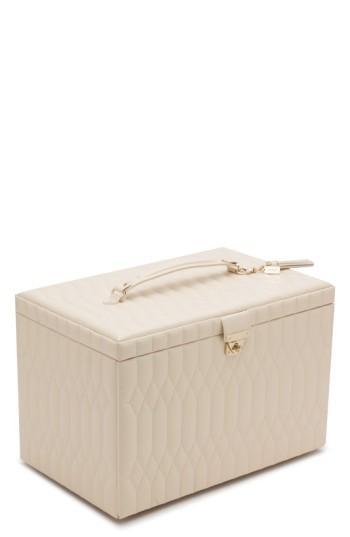 Wolf Caroline Jewelry Case - White In Ivory