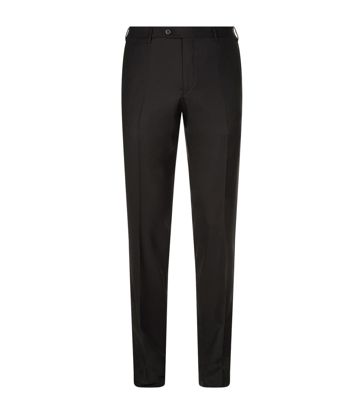 Corneliani Virgin Wool Trousers In Black