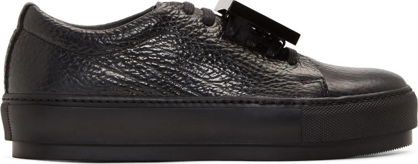 'Adriana - Grain' Leather Sneaker (Women) In Black