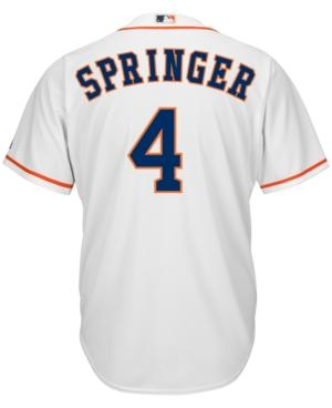Majestic Men's George Springer Houston Astros Replica Jersey In White