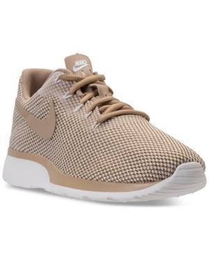 low priced bacbd 171db Nike Women s Tanjun Racer Casual Sneakers From Finish Line In Mushroom  Mushroom-Sail-