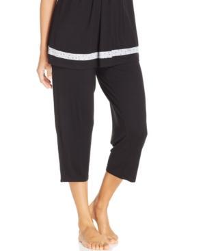 Ellen Tracy Yours To Love Capri Pajama Pants In Black