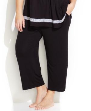 Ellen Tracy Plus Size Yours To Love Capri Pajama Pants In Black