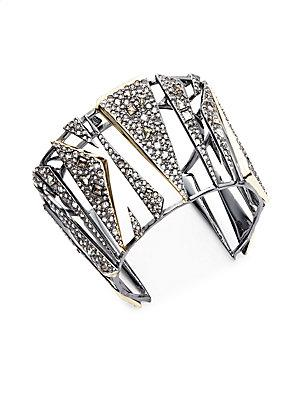 Crystal Encrusted Triangle Bracelet