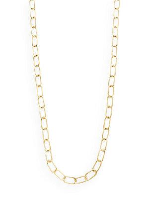 "Stephanie Kantis Sovereign Hammered Chain Link Necklace/36"" In Gold"