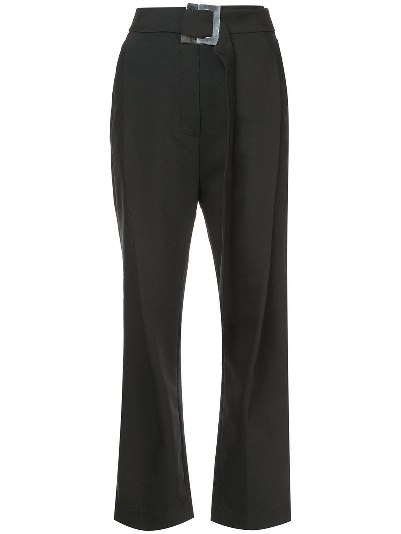 Ellery Belted High Rise Trousers - Black