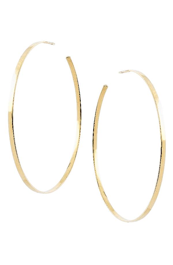 Lana Sunrise Hoop Earrings In Yellow Gold