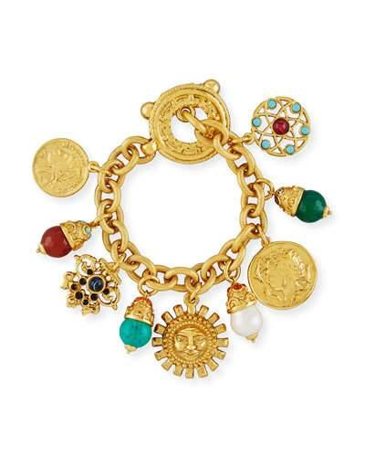 3c5e00a10 Jose & Maria Barrera Sun Coin Charm Bracelet In Gold   ModeSens