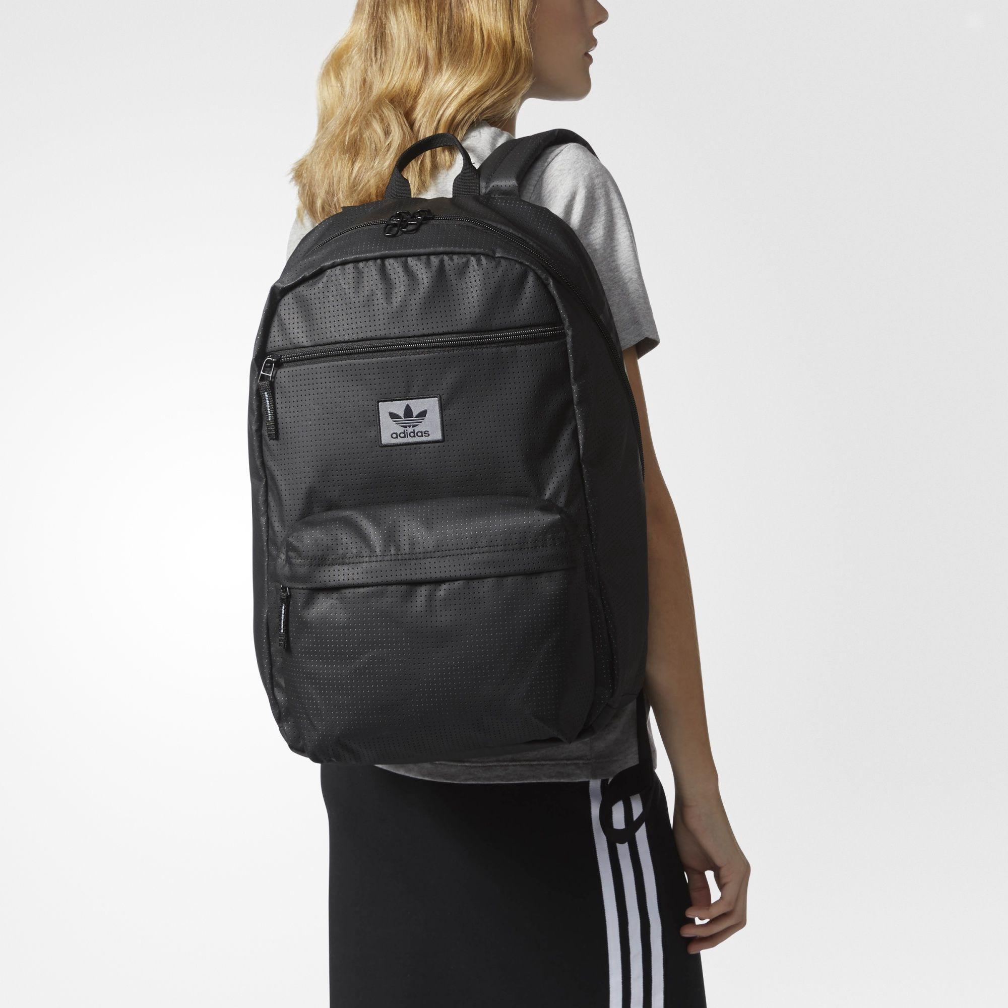 Adidas Originals National Plus Backpack In Black  49585bb04bb16