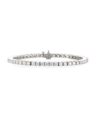 Diana M. Jewels 18K White Gold Diamond Tennis Bracelet, 5.1Tcw