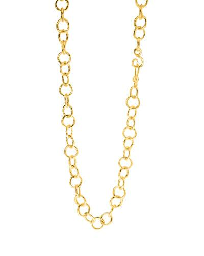 """Stephanie Kantis Classic Chain Link Necklace, 36"""" In Gold"""