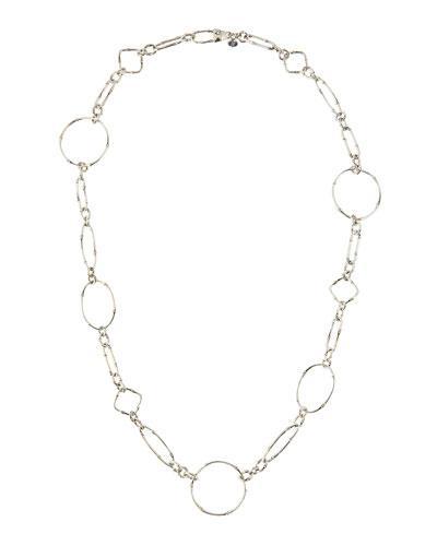 John Hardy Bamboo Silver Sautoir Link Necklace