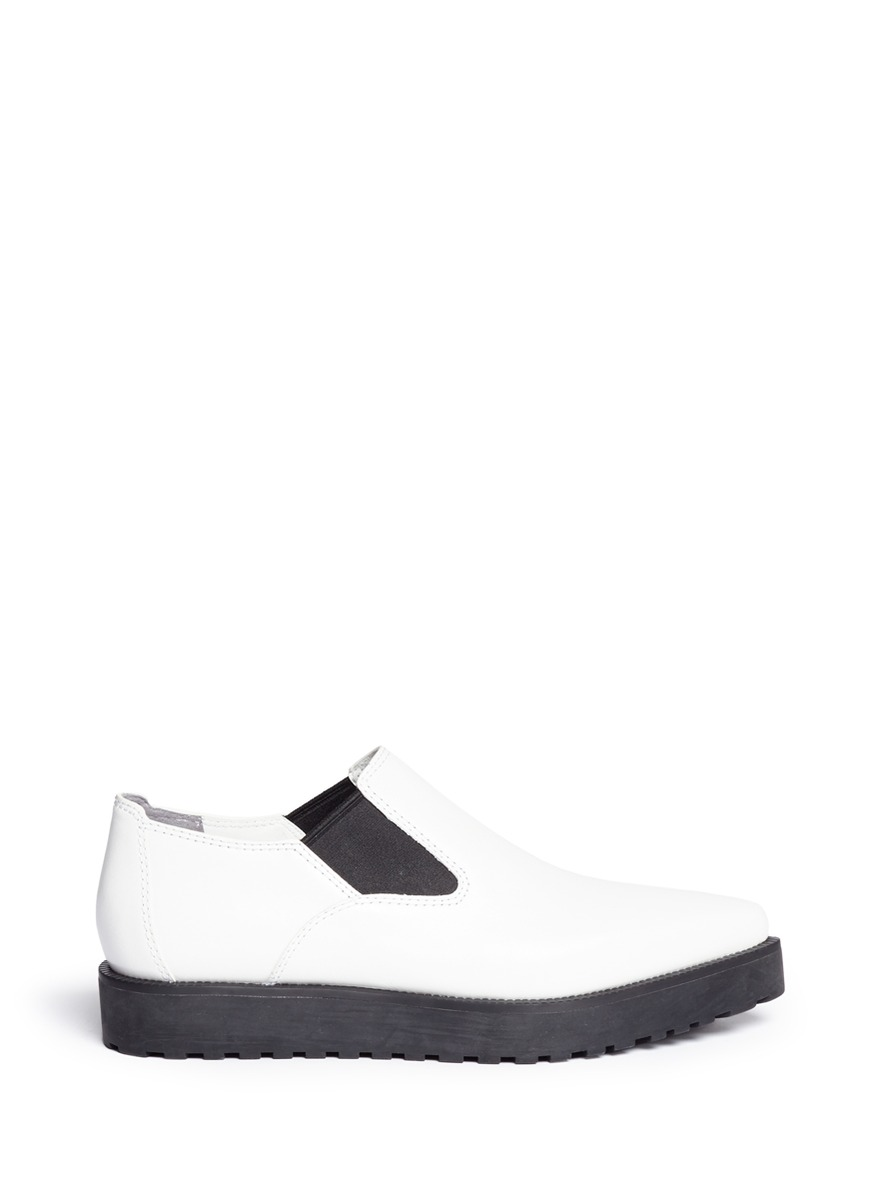 Alexander Wang 'Catherine' Leather Slip-Ons In White