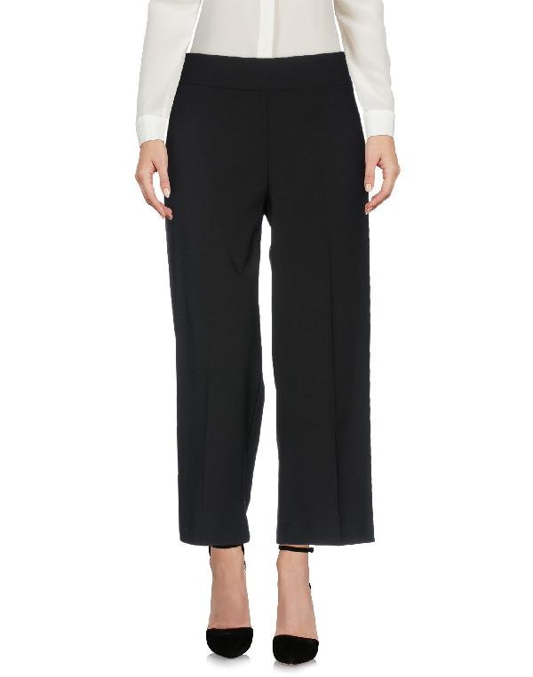 Avenue Montaigne Alex Wide-Leg Crop Pants In Black