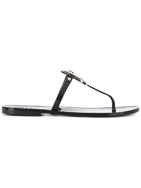 Tory Burch Women's Mini Miller Jelly Flat Thong Sandals In 001 Black