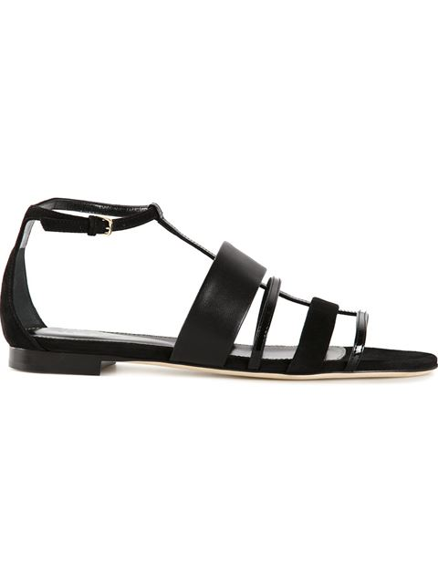 Sergio Rossi Strappy Sandals In Black