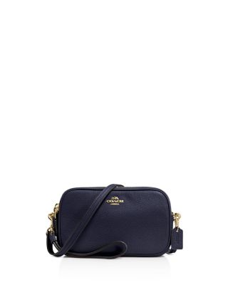 eced43506975 Coach Crossbody Clutch In Pebble Leather In Liblk Black