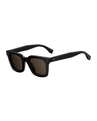 f4653b956b85 Fendi Sun Fun Men's Square Acetate Sunglasses, Black | ModeSens