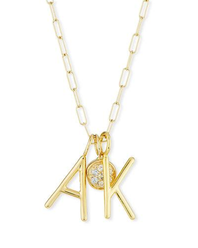 e8154286abf2e3 Sarah Chloe Amelia Layered Initial Necklace With Diamonds In Gold ...