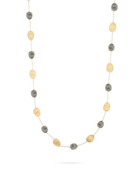 Marco Bicego Lunaria 18K Black Mother-Of-Pearl Station Necklace