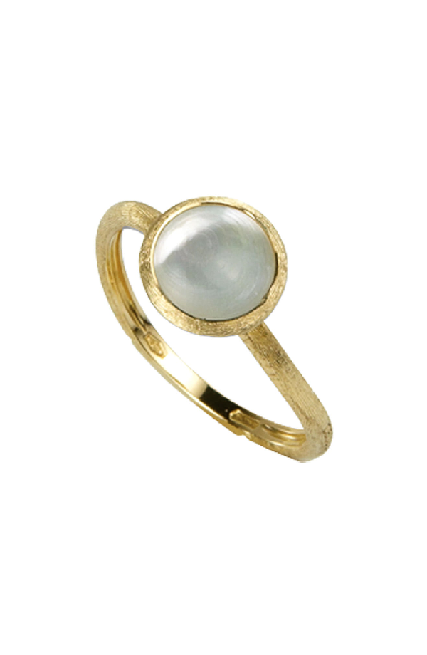 Marco Bicego 'Jaipur' Mother Of Pearl Stackable Ring In Yellow Gold/ Mother Of Pearl