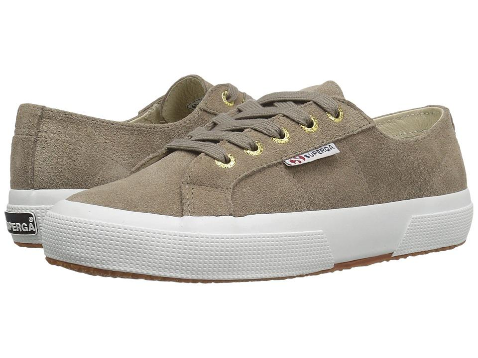 9c05ad138257d Superga - 2750 Sueu (Sand/Gold Eyelets) Women's Lace Up Casual Shoes