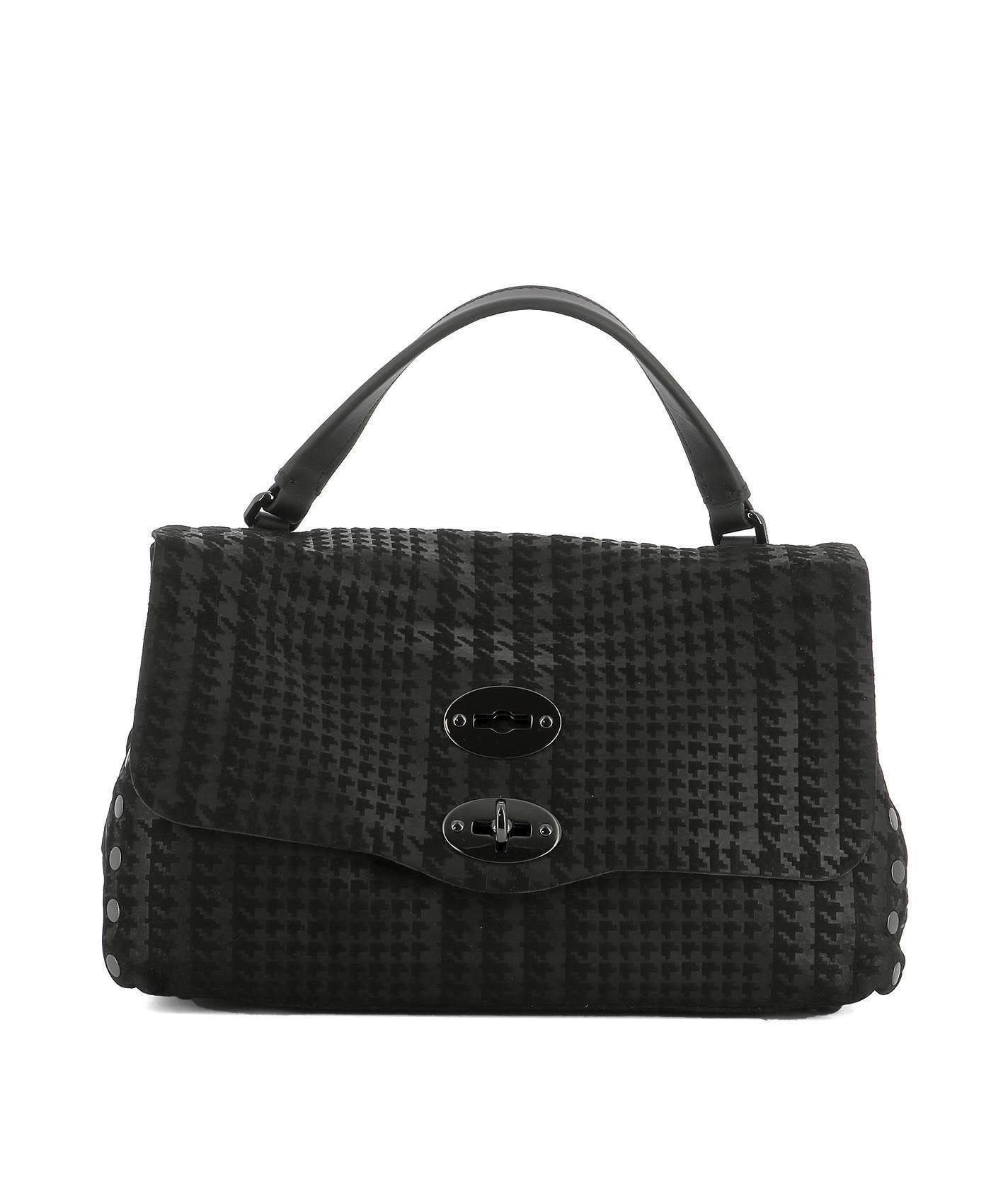 Zanellato Black Suede Handle Bag