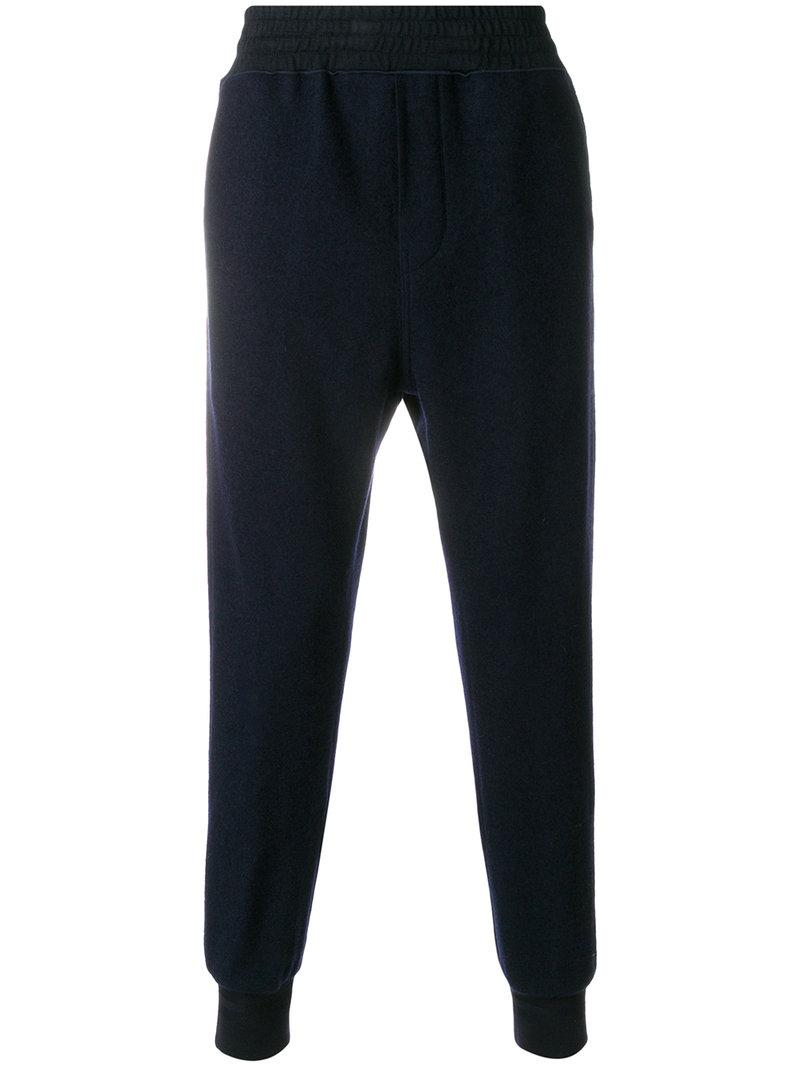Wooyoungmi Gathered Ankle Knit Track Trousers