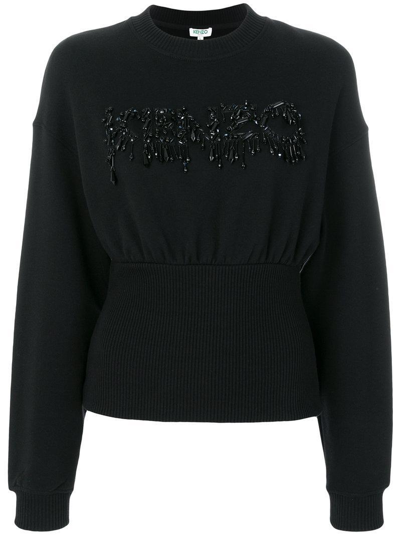 Kenzo Cotton Sweatshirt In Black