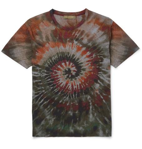 Valentino Tie-dye Short-sleeve T-shirt, Tie Dye Army In Multicolour