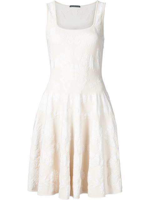 514bcb96790 Alexander Mcqueen Short-Sleeved Lace-Knit Ruffle Mini Dress In Black ...