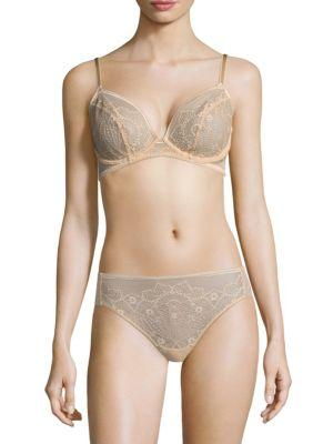 4d4714e21d Wacoal Take The Plunge Crochet-Lace Bra 851273 In Sand
