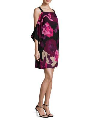 3fea82d60ed Trina Turk Laurel Floral-Print Cold-Shoulder Dress In Multi