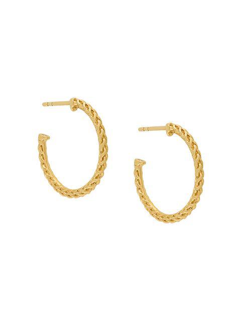 Astley Clarke Medium Spiga Hoop Earrings - Metallic