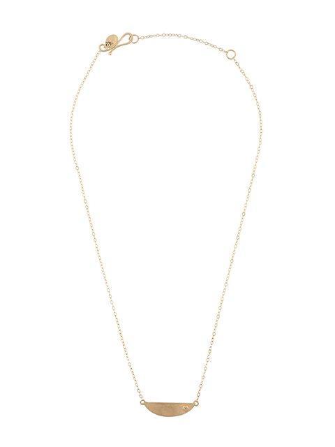 6531120c9 Melissa Joy Manning Mini Collar Necklace With Diamond Detail - Yellow In  Yellow & Orange