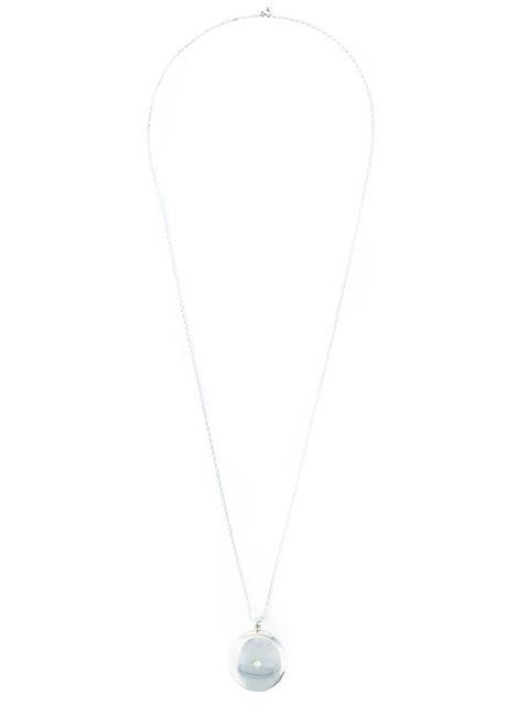Astley Clarke Large 'Astley' Locket Pendant Necklace - Metallic